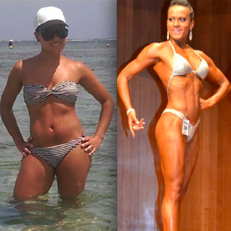 Tom Hewett client Beatrice before and after transformation